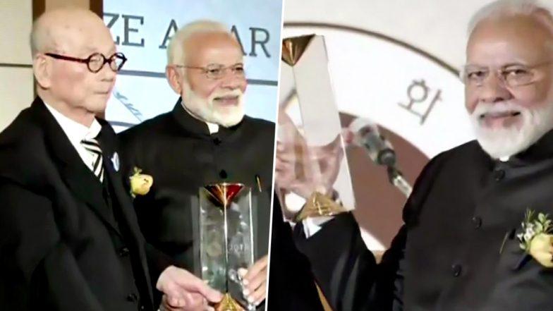Narendra Modi Receives Seoul Peace Prize in South Korea, Says It's Time to Unite to Eradicate Terror