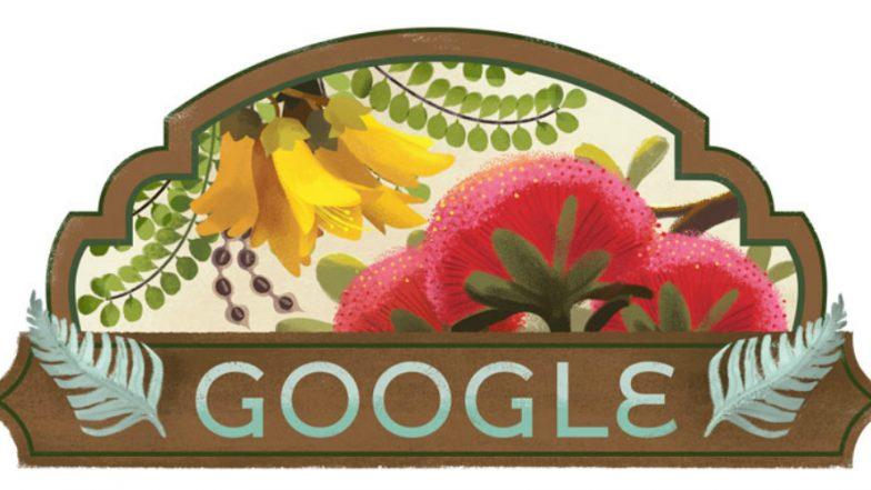 Waitangi Day 2019: Google Celebrates New Zealand's Treaty of Waitangi With Fern & Flower Doodle