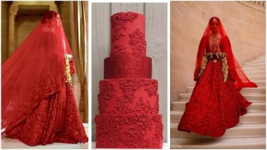 Priyanka Chopra's Sabyasachi Designed Bridal Outfit Gets Replicated Into a Four-Tiered Cake in London - View Pics