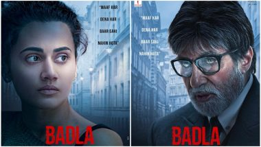 Shah Rukh Khan, Amitabh Bachchan and Taapsee Pannu's Twitter Chat Reveals When to Expect the First Trailer of Badla; Share First Posters
