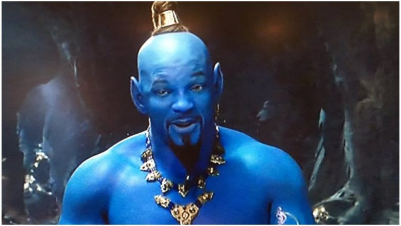 Aladdin Teaser Twitter Reactions Fans Compare Will Smith's 'Blue' Genie With Stuff Nightmares Are Made Of