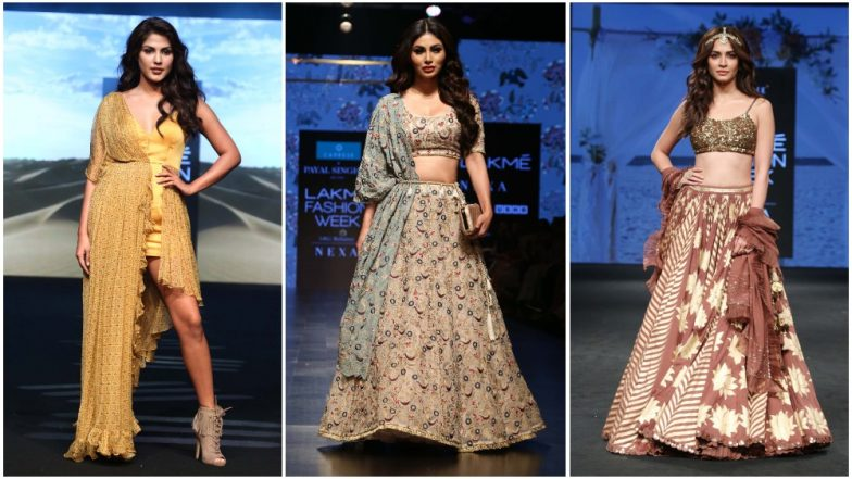 Lakme Fashion Week 2019: Mouni Roy, Rhea Chakraborty and Kriti Kharbanda Stun Us With Their Ramp Walk on Day 3