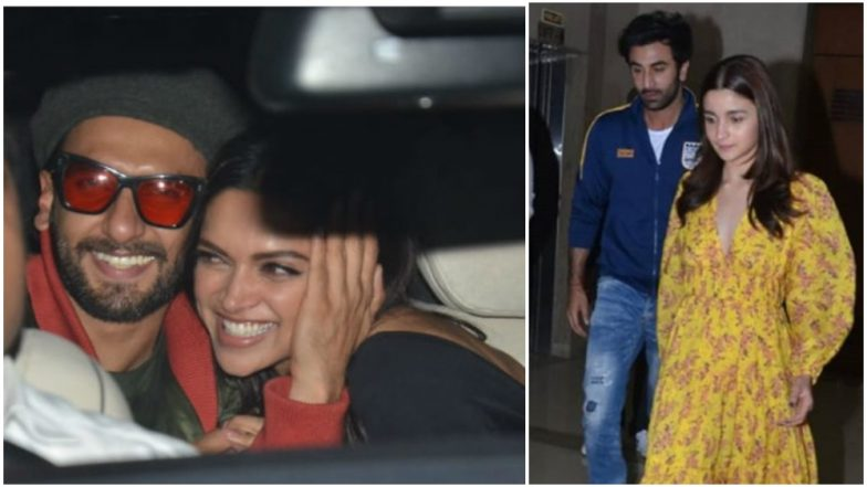 Ranveer Singh and Deepika Padukone or Ranbir Kapoor and Alia Bhatt- Which Couple Was the Mushiest Ahead of Valentine's Day at the Gully Boy Screening? – Watch Videos