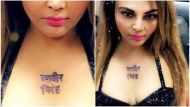 Rakhi Sawant Gets Gully Boy Ranveer Singh's Name Inked, Watch This Hilarious Video