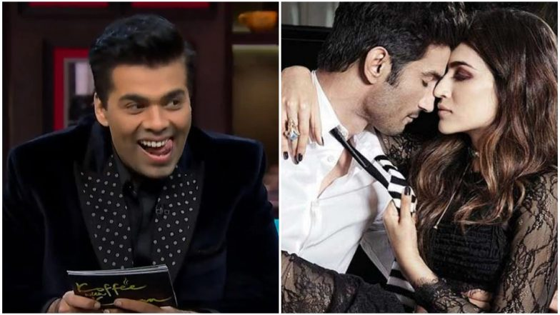 Karan Johar Jokes About Kriti Sanon and Sushant Singh Rajput Having Any Chemistry in Raabta