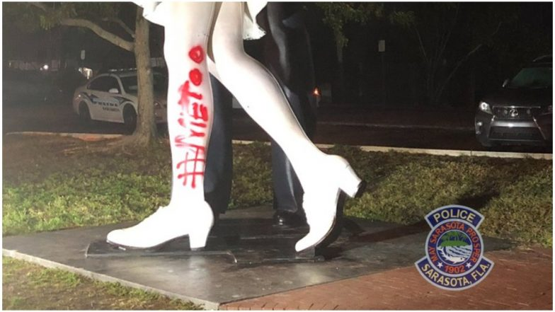 'Unconditional Surrender' Statue Vandalised With #MeToo Graffiti, Reminds Us of the Deep-Rooted Sexual Assault Against Women