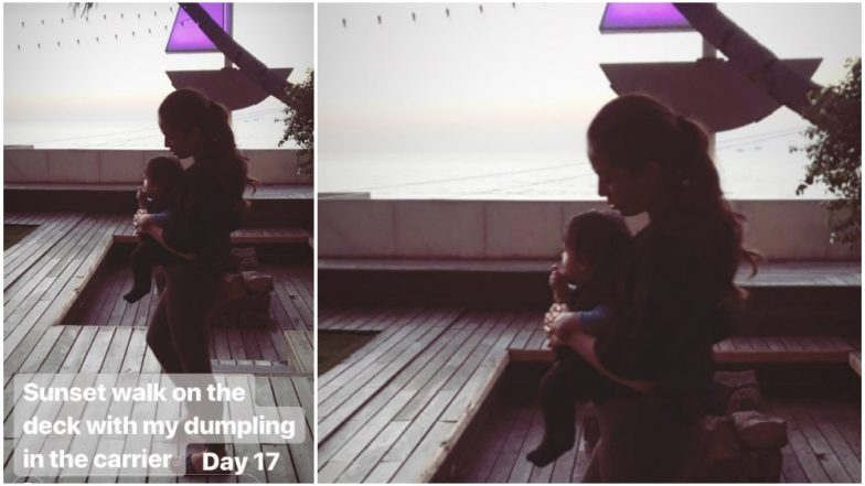 Mira Rajput Enjoys Sunset With Her Cutest 'Dumpling', Zain - View Pic