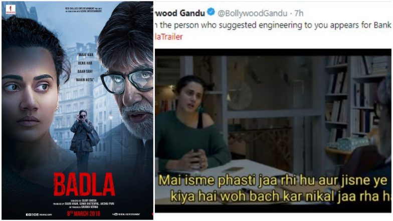 Badla Trailer: Memes Made Out Amitabh Bachchan and Taapsee Pannu's Dialogues Are Ruling Social Media Right Now! Read Tweets