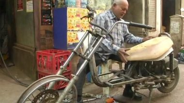 Differently-abled Senior Citizen Builds E-Bikes out of Old Electronic Parts in Gujarat