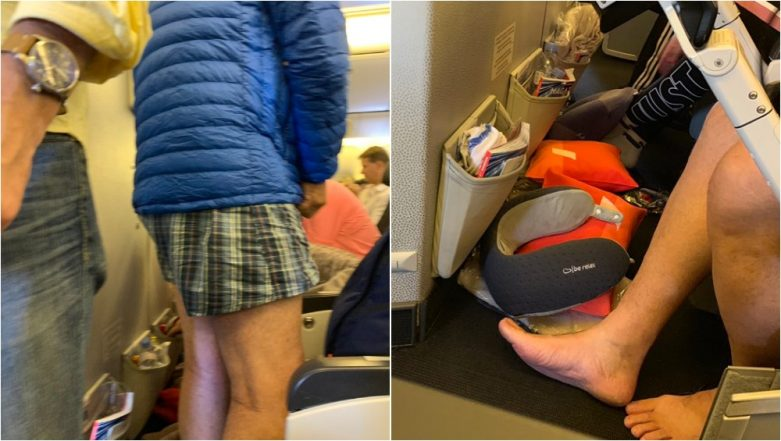 Male passenger on Air France Flight Strips Down to Underwear; Shocked Co-Passenger Tweets Live Pictures