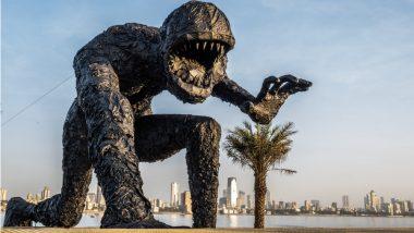 'Plastic Monster' Installed at Bandra Worli Sealink Promenade to Raise Awareness about Plastic Disposal