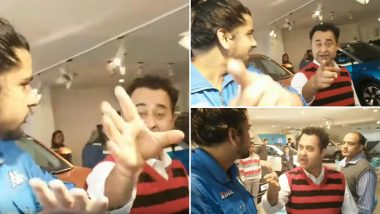 Tata Motors Prashant Vihar Showroom Employee Hitting Customer Captured on YouTube; Watch Video