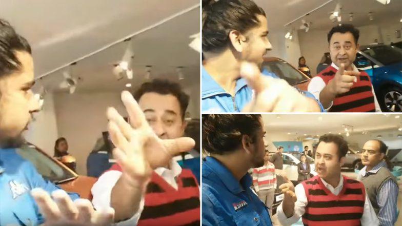 Tata Motors Prashant Vihar Showroom Employee Hitting Customer Captured on YouTube; Watch Video