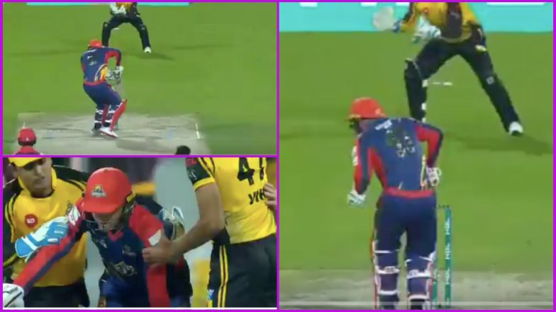 PSL 2019: Colin Ingram Hit on Head by Wahab Riaz Bouncer During Peshawar Zalmi vs Karachi Kings T20 Match, Watch Video