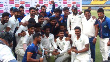 Vidarbha Win Ranji Trophy 2018-19, Beat Saurashtra by 78 Runs to Retain the Title