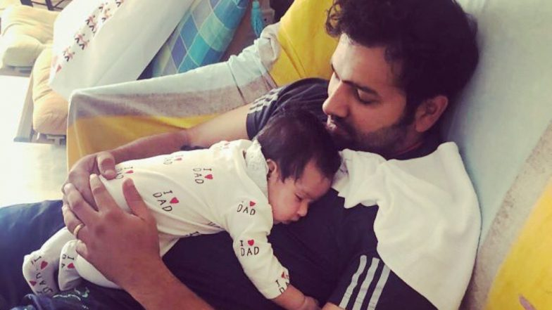 Rohit Sharma's Enjoys Free Time With Family, Shares Cute Picture of Daughter Samaira