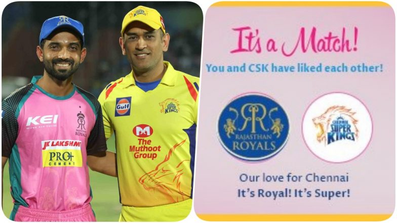 Rajasthan Royals Send 'Pink Love' to Chennai Super Kings on Valentine's Day; KKR Also Finds a Match While MI Has a Piece of Advice for Netizens