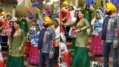 Sapna Choudhary's New Viral Video With Daler Mehendi Is High On Punjabi Swag (Watch Video)