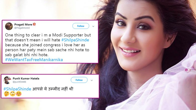 Shilpa Shinde's Decision to Enter Politics and Join Congress Gets a Mixed Reaction From Twitterati - Check Out the Tweets