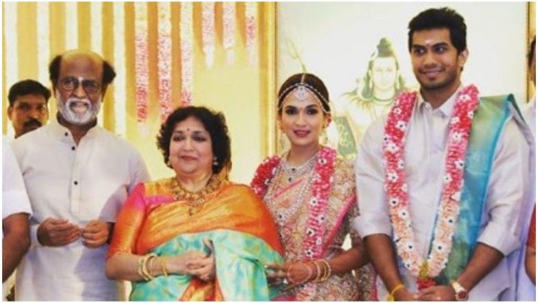 Soundarya Rajinikanth Ties the Knot With Actor-Businessman Vishagan Vanangamudi in Chennai – See Their First Pics as a Married Couple