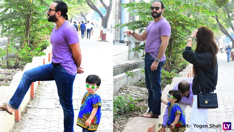Taimur Ali Khan Steps Out For Lunch With Kareena Kapoor and Saif Ali Khan - See Pics