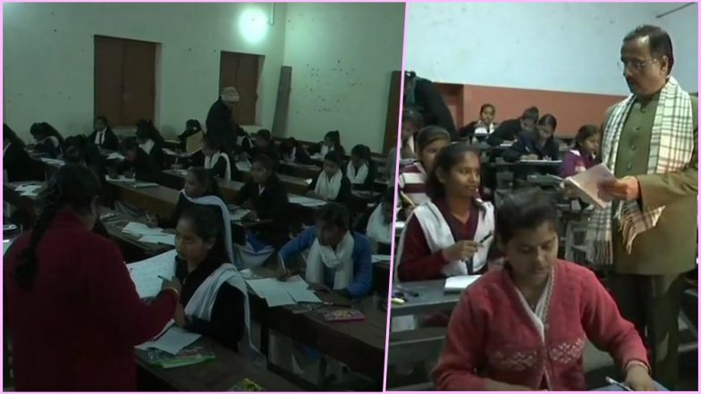 UP Board Class 10 & 12 Exam 2019 Begins! CCTV Surveillance, Voice Recorders Installed at 8,354 Centres to Avoid Cheating (View Pics)