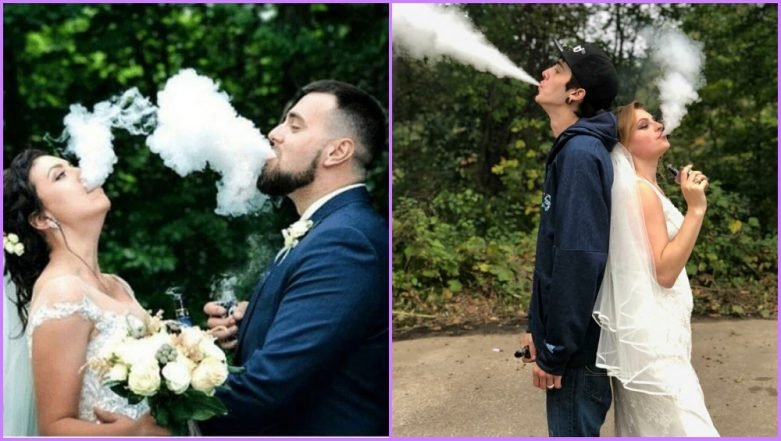 Vaping in Wedding Photos Is the Latest Dangerous Trend Going Viral (View Pics)