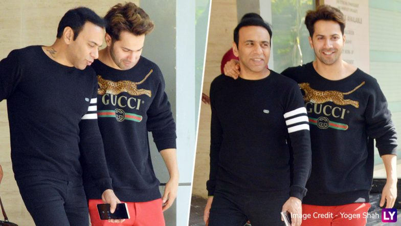 Varun Dhawan Meets Farhad Samji! Is That Coolie No 1 Announcement That We See Coming? View Pics