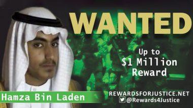 Hamza, Son of Osama Bin Laden, Now Has Bounty of 1 Million US Dollars on His Head