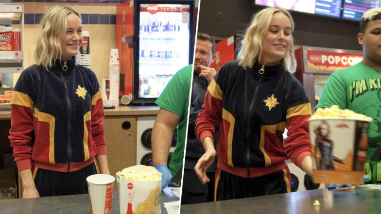 Captain Marvel Star Brie Larson Surprises Fans In Theaters By Serving Popcorn and Soda - See Pics!