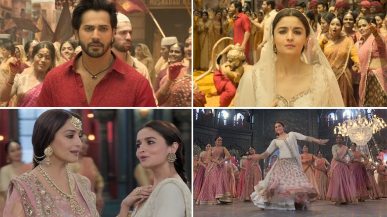 Kalank Song Ghar More Pardesiya: Alia Bhatt-Madhuri Dixit's Classical Face-Off and Varun Dhawan's Kohl-Eyed Intense Gaze Make This Track Magical – Watch Video