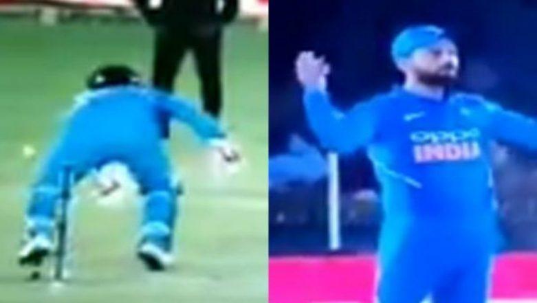 Rishabh Pant Fails to Pull Off an MS Dhoni During India vs Australia, 4th ODI 2019; Virat Kohli Miffed With the Keeper (Watch Video)