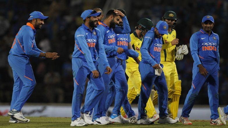 India vs Australia 2nd ODI 2019: Men in Blue Beat Aussies in a Thriller, Leads 5-Match Series 2–0