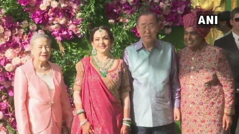 Akash Ambani-Shloka Mehta Wedding: Former UN Secretary Ban Ki-Moon, Tony Blair Among VIP Guests at Celebrations