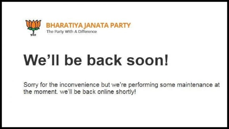 BJP Website www.bjp.org Down For 12 Straight Days After Being 'Hacked'; French Vigilante Hacker Says 'Nehru Did It'