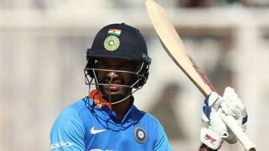 Shikhar Dhawan Brings Up His 16th Century During India vs Australia 4th ODI at Mohali