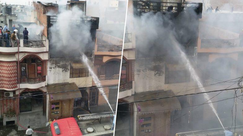 Meerut: Fire Reported in Factory in Prahlad Nagar