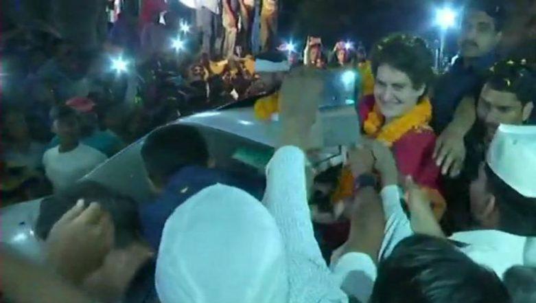 Priyanka Gandhi Holds Roadshow in Mirzapur On Day 2 Of Ganga Yatra Ahead of 2019 Lok Sabha Elections, See Pics