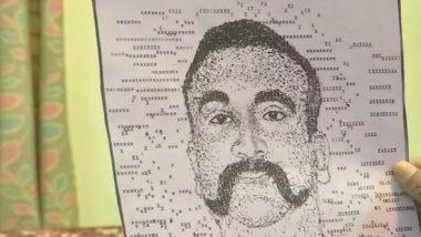 Bengaluru Artist Creates Typewriter Portrait of Wing Commander Abhinandan Varthaman (See Pic)