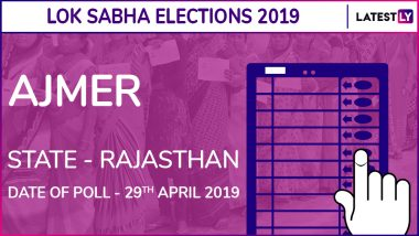 Ajmer Lok Sabha Constituency in Rajasthan: Candidates, Current MP, Polling Date And Election Results 2019