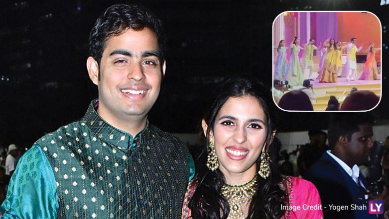 Akash Ambani-Shloka Mehta Sangeet Ceremony PICS Out: Team Bride Dances on Alia Bhatt-Arjun Kapoor's 'Iski Uski' Wedding Song (Watch Video)
