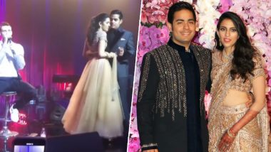 Akash Ambani and Wife Shloka Mehta's Romantic Dance With Maroon 5's Adam Levine Taking the Center Stage Will Leave You Awe-Struck– Watch Video