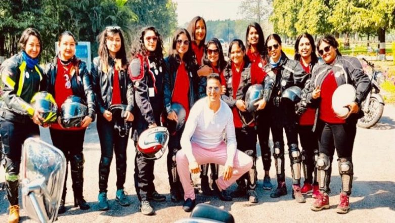 Akshay Kumar Breaks Stereotypes, Joins Female Bikers In Lucknow to Create Awareness About Menstrual Taboos - View Pic!