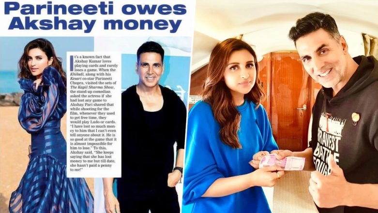 Parineeti Chopra Always Pays Her Debt! The Kesari Actress Gives Money to Akshay Kumar after a Joke Makes Newspaper Headline - See Pic
