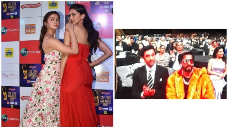 080fc865c3ca Deepika Padukone-Alia Bhatt Pose Together While Their Partners Ranveer Singh  and Ranbir Kapoor Bond