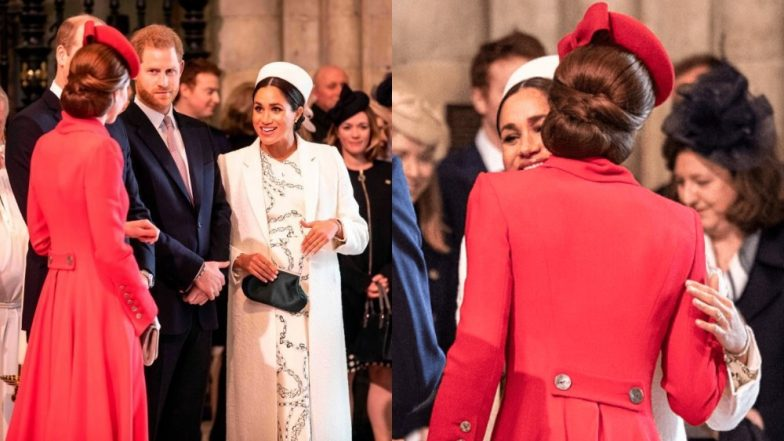 Kate Middleton And Meghan Markle Quash Animosity Rumours By Exchanging Kisses At The Commonwealth Day Service - View Pic!