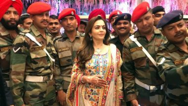 Akash Ambani-Shloka Mehta Wedding: Nita & Mukesh Ambani Celebrate With Armed Forces