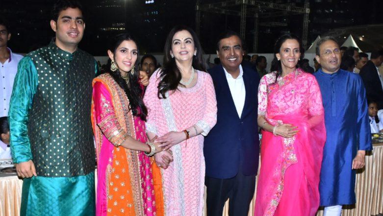 All Set To Get Married, Akash Ambani and Shloka Mehta Come Together With Their Families For The  Inauguration of Ambani Square