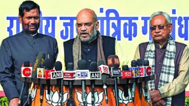 Lok Sabha Elections 2019: BJP, JD(U), LJP Announce List of Constituencies They Will Contest in Bihar, Check Here