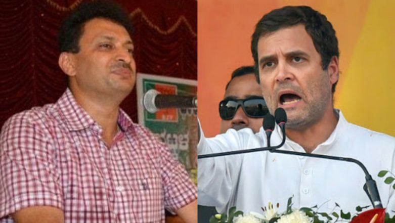 Anant Kumar Hegde Calls Rahul Gandhi a 'Muslim' Again, Asks Congress Chief to Prove His 'Hindu Brahmin' Identity; Watch Video